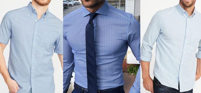 پیراهن مردانه رسمی آبی