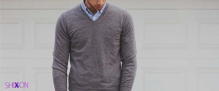 زیر ژاکت یا بافت یقه هفت چی بپوشیم؟