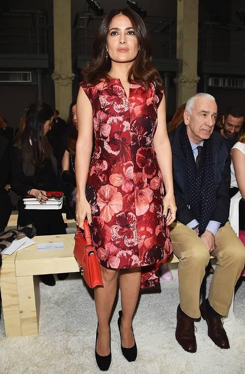 استایل سلما هایک - لباس برای خانم ها با سینه بزرگ