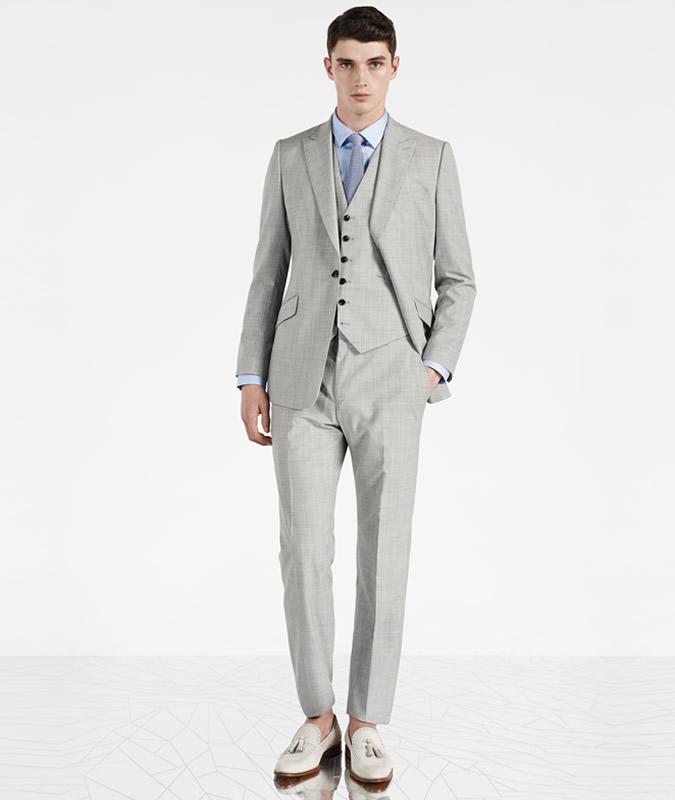 Reiss Garda Grey Three-Piece Suit