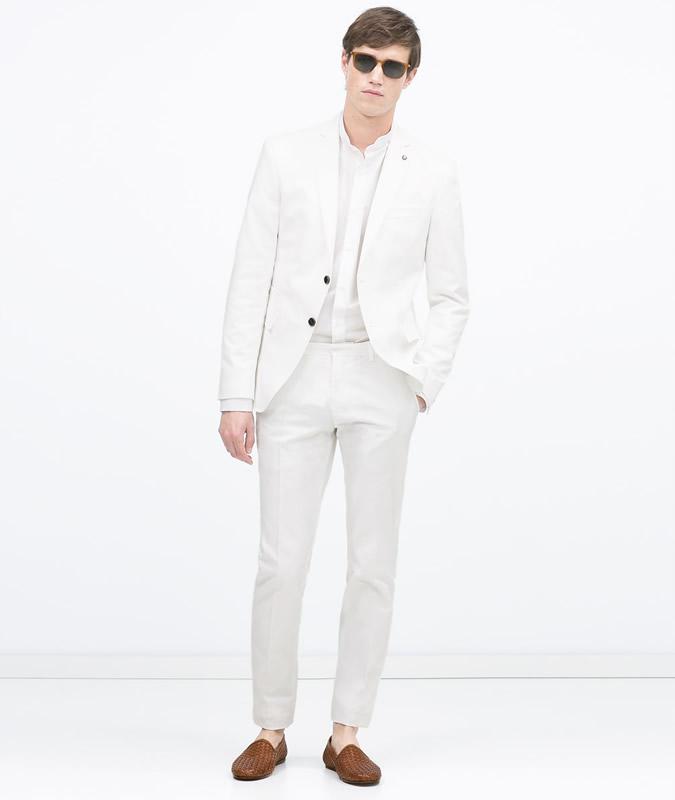 Zara White cotton suit