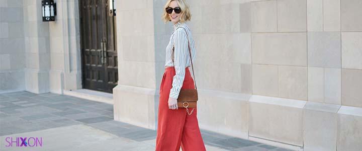 خانم ها با شلوار قرمز چه بپوشند؟