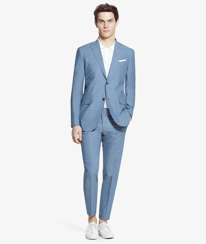 Mango Mid-Blue Summer Suit