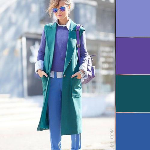 ست لباس رنگ بنفش