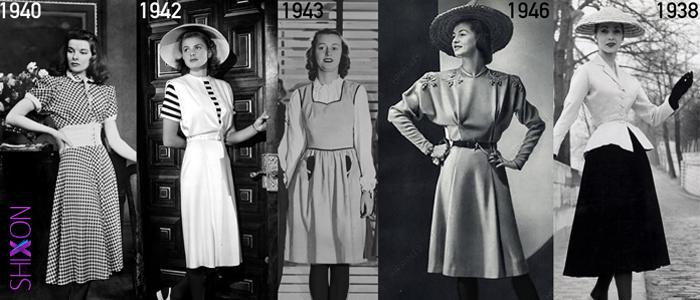 لباس زنانه در سال 1943
